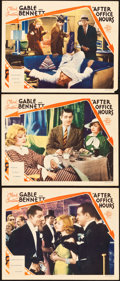 "Movie Posters:Drama, After Office Hours (MGM, 1935). Lobby Cards (3) (11"" X 14"").. ...(Total: 3 Items)"