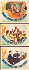 """Movie Posters:Action, Devil Dogs of the Air (Warner Brothers, 1935). Lobby Cards (3) (11""""X 14"""").. ... (Total: 3 Items)"""