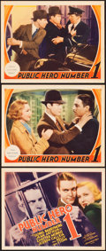 """Movie Posters:Crime, Public Hero #1 (MGM, 1935). Title Lobby Card and Lobby Cards (2)(11"""" X 14"""").. ... (Total: 3 Items)"""