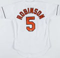 Baseball Collectibles:Uniforms, Brooks Robinson Signed Baltimore Orioles Jersey....