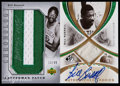 Basketball Cards:Lots, 2005-06 Basketball Bill Russell Pair of Signed Cards (2)....