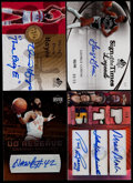 Basketball Cards:Lots, 2005-08 Basketball HoFers Signed Cards Collection (4)....