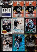 Football Cards:Lots, 1992-2009 Football Los Angeles/Oakland Raiders Signed Cards Collection (9)....