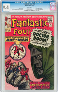 Silver Age (1956-1969):Superhero, Fantastic Four #16 (Marvel, 1963) CGC NM 9.4 White pages....