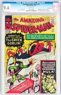 The Amazing Spider-Man #14 Pacific Coast Pedigree (Marvel, 1964) CGC NM+ 9.6 White pages