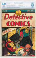 Golden Age (1938-1955):Superhero, Detective Comics #29 (DC, 1939) CBCS Restored VG 4.0 Moderate to Extensive (A) Off-white pages....