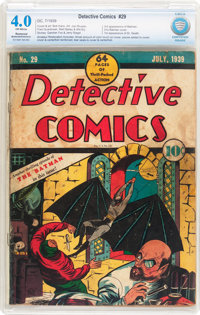 Detective Comics #29 (DC, 1939) CBCS Restored VG 4.0 Moderate to Extensive (A) Off-white pages