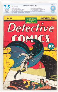 Detective Comics #33 (DC, 1939) CBCS Restored VF- 7.5 Moderate (P) Off-white pages