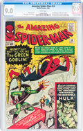 Silver Age (1956-1969):Superhero, The Amazing Spider-Man #14 (Marvel, 1964) CGC VF/NM 9.0 White pages....