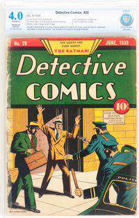 Detective Comics #28 (DC, 1939) CBCS Restored VG 4.0 Moderate (A) Off-white pages