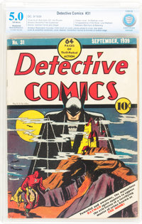 Detective Comics #31 Married/Trimmed (DC, 1939) CBCS Restored VG/FN 5.0 Off-white pages