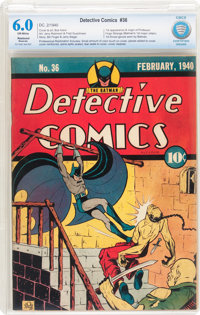 Detective Comics #36 (DC, 1940) CBCS Restored FN 6.0 Moderate (P) Off-white pages