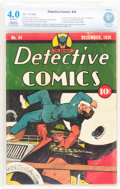 Golden Age (1938-1955):Superhero, Detective Comics #34 (DC, 1939) CBCS Restored VG 4.0 Slight to Moderate (P) Off-white pages....
