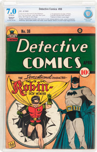 Detective Comics #38 Trimmed (DC, 1940) CBCS Restored FN/VF 7.0 Moderate (A) Off-white pages