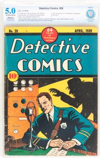 Detective Comics #26 Trimmed (DC, 1939) CBCS Restored VG/FN 5.0 Slight to Moderate (A) Off-white to white pages