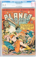 Golden Age (1938-1955):Science Fiction, Planet Comics #17 (Fiction House, 1942) CGC VG+ 4.5 Off-white towhite pages....