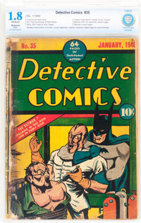 Detective Comics #35 Trimmed (DC, 1940) CBCS Restored GD- 1.8 Slight (A) Off-white pages