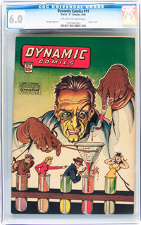 Dynamic Comics #11 (Chesler, 1944) CGC FN 6.0 Off-white to white pages