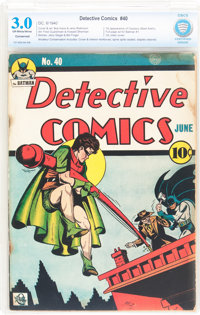 Detective Comics #40 (DC, 1940) CBCS Conserved GD/VG 3.0 Off-white to white pages