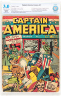 Golden Age (1938-1955):Superhero, Captain America Comics #1 (Timely, 1941) CBCS Restored GD/VG 3.0 Moderate (A) Cream to off-white pages....