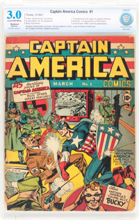 Captain America Comics #1 (Timely, 1941) CBCS Restored GD/VG 3.0 Moderate (A) Cream to off-white pages