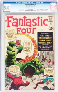 Fantastic Four #1 (Marvel, 1961) CGC VG/FN 5.0 Off-white to white pages