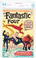 Silver Age (1956-1969):Superhero, Fantastic Four #4 (Marvel, 1962) CBCS NM 9.4 Off-white to white pages....