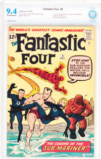 Fantastic Four #4 (Marvel, 1962) CBCS NM 9.4 Off-white to white pages