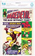 Silver Age (1956-1969):Superhero, Daredevil #1 (Marvel, 1964) CBCS NM+ 9.6 Off-white to white pages....