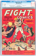 Golden Age (1938-1955):Miscellaneous, Fight Comics #1 (Fiction House, 1940) CGC FN/VF 7.0 Light tan to off-white pages....