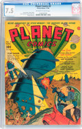 Golden Age (1938-1955):Science Fiction, Planet Comics #9 (Fiction House, 1940) CGC VF- 7.5 Off-white towhite pages....