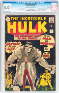 Silver Age (1956-1969):Superhero, The Incredible Hulk #1 UK Edition (Marvel, 1962) CGC VG 4.0 Cream to light tan pages....