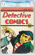 Platinum Age (1897-1937):Miscellaneous, Detective Comics #2 (DC, 1937) CGC FR/GD 1.5 Off-white pages....