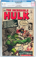 Silver Age (1956-1969):Superhero, The Incredible Hulk #5 (Marvel, 1963) CGC NM- 9.2 Off-white towhite pages....