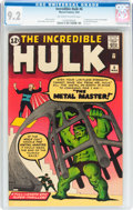 Silver Age (1956-1969):Superhero, The Incredible Hulk #6 (Marvel, 1963) CGC NM- 9.2 Off-white towhite pages....