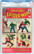 Silver Age (1956-1969):Superhero, The Amazing Spider-Man #4 (Marvel, 1963) CGC NM 9.4 Off-white towhite pages....