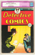 Golden Age (1938-1955):Crime, Detective Comics #21 (DC, 1938) CGC Apparent VG 4.0 Moderate (A) Slightly brittle pages....