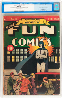 More Fun Comics #52 (DC, 1940) CGC FR 1.0 Tan to off-white pages