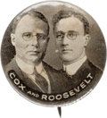 """Political:Pinback Buttons (1896-present), Cox & Roosevelt: The """"Holy Grail"""" Jugate Button for these 1920 Running Mates...."""