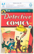Golden Age (1938-1955):Superhero, Detective Comics #39 (DC, 1940) CBCS Restored VG+ 4.5 Moderate (A)Off-white pages....