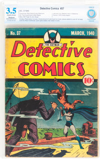 Detective Comics #37 (DC, 1940) CBCS Restored VG- 3.5 Moderate to Extensive (A) Slightly brittle pages