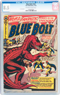 Golden Age (1938-1955):Science Fiction, Blue Bolt #107 (Star Publications, 1950) CGC VF+ 8.5 Off-white towhite pages....
