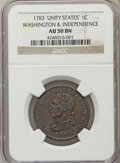 1783 COPPER Washington Unity States Cent AU50 NGC. NGC Census: (13/63). PCGS Population (47/96). ...(PCGS# 689)