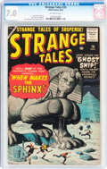 Silver Age (1956-1969):Adventure, Strange Tales #70 (Marvel, 1959) CGC FN/VF 7.0 Off-white pages....