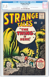 Strange Tales #79 (Marvel, 1960) CGC VF- 7.5 Off-white pages