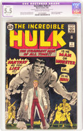 Silver Age (1956-1969):Superhero, The Incredible Hulk #1 (Marvel, 1962) CGC Apparent FN- 5.5 Slight(P) Cream to off-white pages....