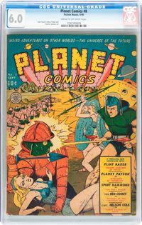 Planet Comics #8 (Fiction House, 1940) CGC FN 6.0 Cream to off-white pages