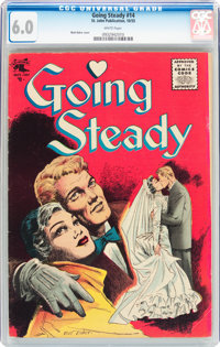 Going Steady #14 (St. John, 1955) CGC FN 6.0 White pages