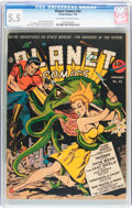 Golden Age (1938-1955):Science Fiction, Planet Comics #22 (Fiction House, 1943) CGC FN- 5.5 Off-white towhite pages....