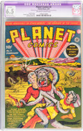 Golden Age (1938-1955):Science Fiction, Planet Comics #2 (Fiction House, 1940) CGC Apparent FN+ 6.5Moderate (B-3) Off-white to white pages....